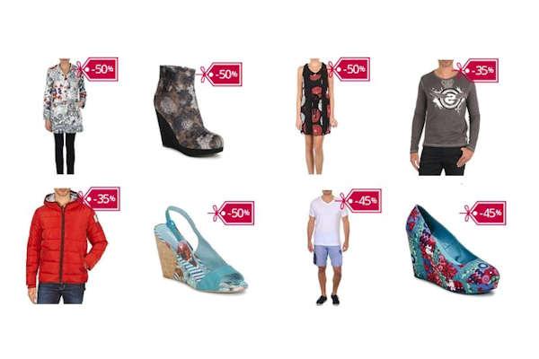 50% Έκπτωση σε ανδρικά και γυναικεία ρούχα παπούτσια και αξεσουάρ Desigual. Κάνε τις αγορές σου τώρα!
